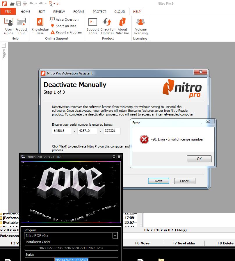 Can't activate Nitro PDF Pro v9 5 1 12 by CORE-Keygen - Site
