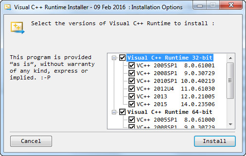 microsoft visual c++ redistributable package for visual studio 2015 (x64)
