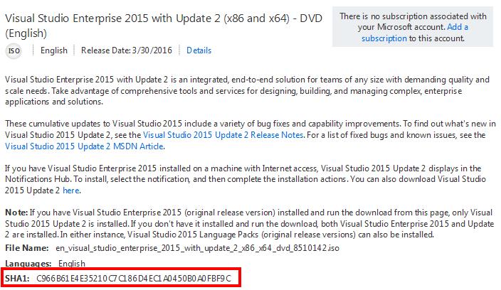 visual studio 2015 update 2 Visual Studio 2015 Update 2