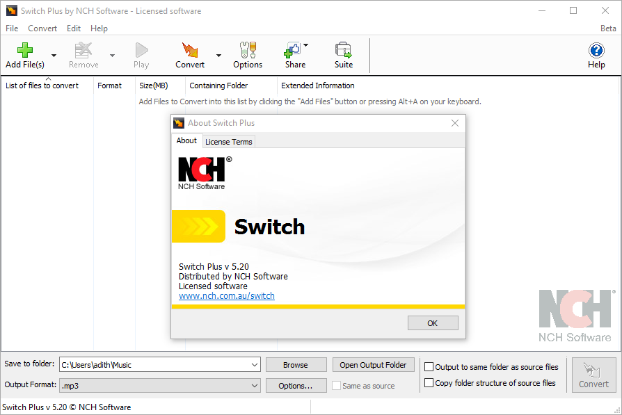 Switch Audio File Converter Crack Beta with Keygen Full Free