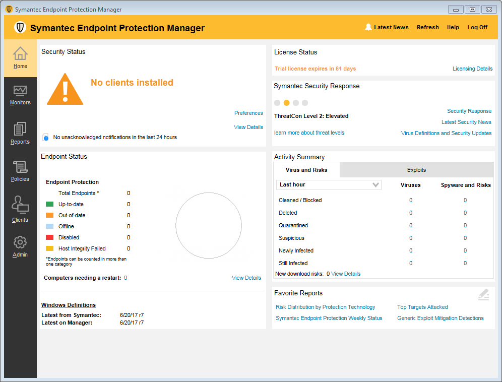 Symantec Endpoint Protection 14 MP2 (14 0 2415 0200