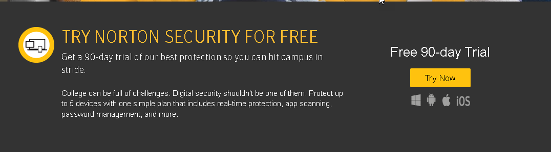 Get a 90-day Free trial ًWith Norton internet Security