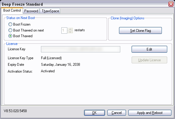 deep freeze software license key