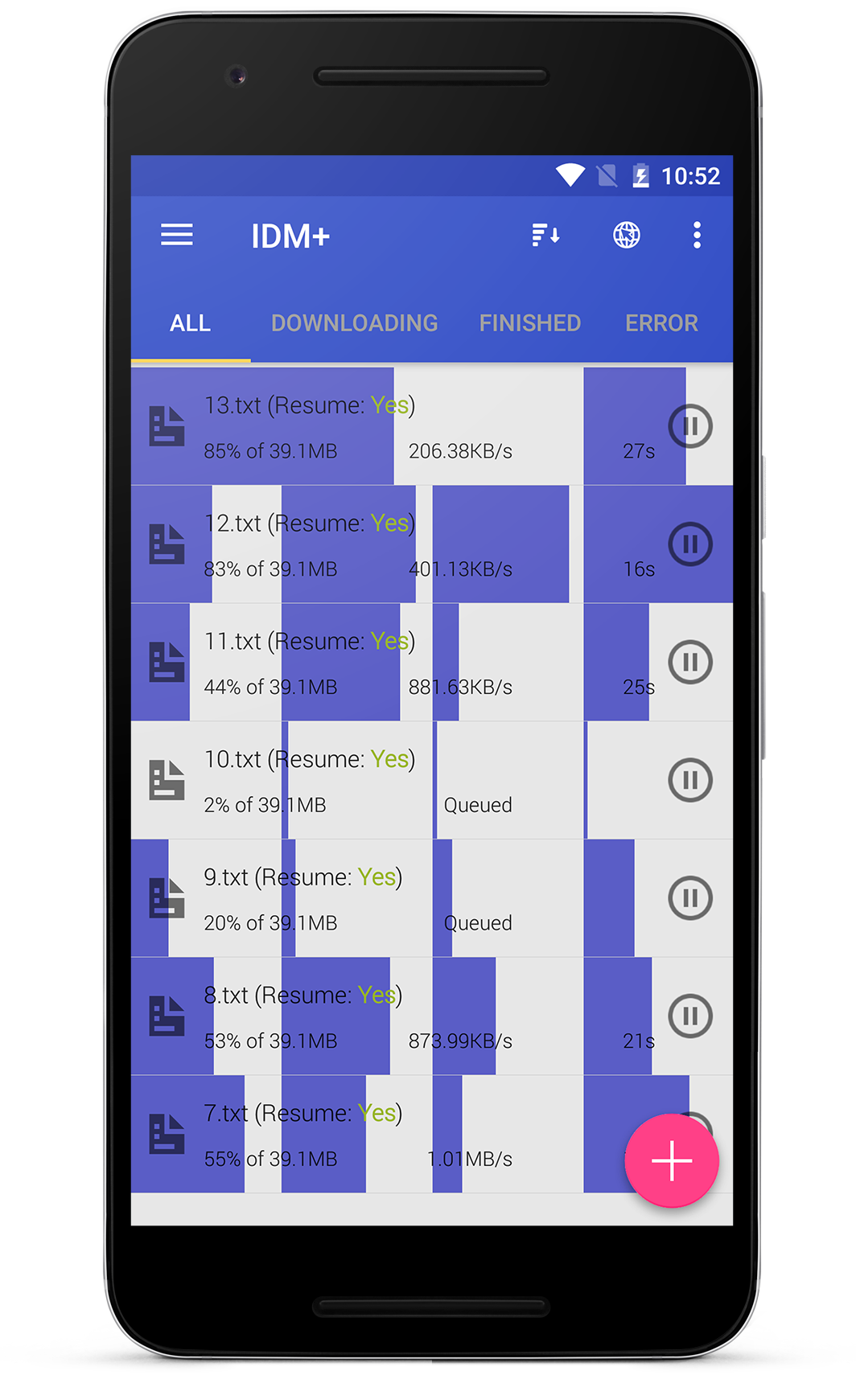 how to resume torrent download in mobile
