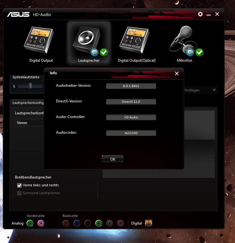 ASUS HD AUDIO V6 DRIVER DOWNLOAD