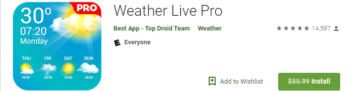 Android] Weather Live Pro FREE - Giveaways - nsane forums