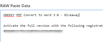 ONEKEY PDF Convert to Word 3 0 - Giveaways - nsane forums