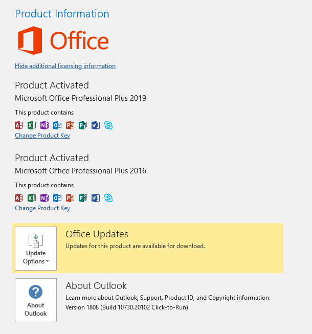 Microsoft Office 2019 Version 1808 Build 1073020102 Retail All