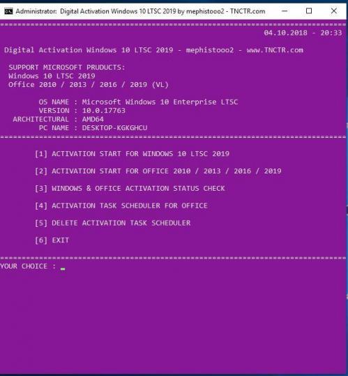 Windows 10] Enterprise LTSC, version 1809 (Updated Sept 2018