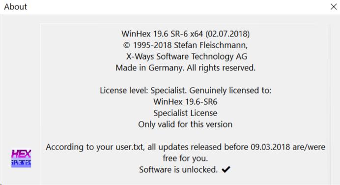 WinHex 19 7 - Software Updates - nsane forums
