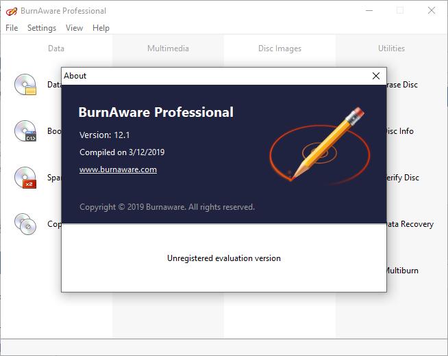 burnaware professional portable download
